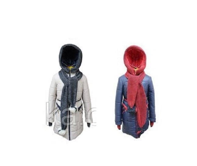 Зимнее пальто на девочку Амалия арт 6799 цвета 146 р