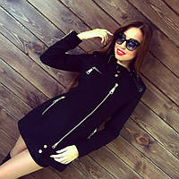 """Женское модное кашемировое пальто """"Бэкет"""" (черное и темно-синее) (размеры 42, 44, 46, 48)"""