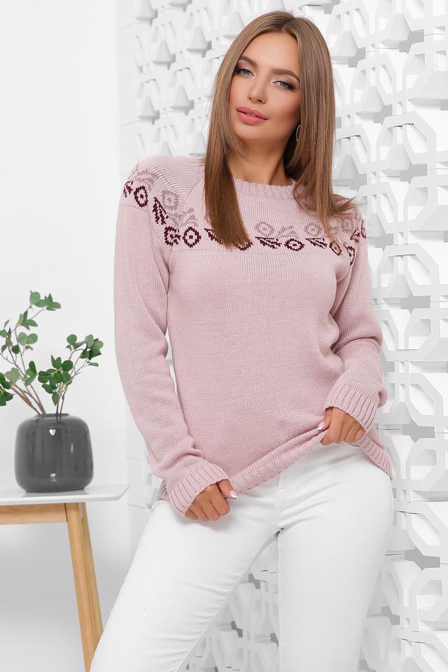 Фото Полушерстяного женского свитера Оксана-6