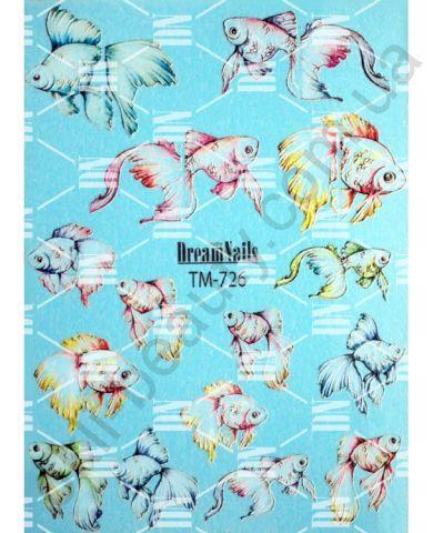 Слайдер-дизайн «Рыбки» TM-726 Dream Nails (водные наклейки)