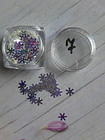 Конфетти для дизайна ногтей снежинка