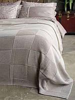 Плед - покрывало вязаное 220x240 BETIRES ASPEN BEIGE (50% хлопок, 50% акрил) бежевое