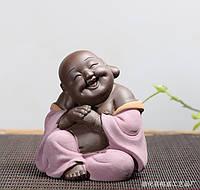 """Фигурка Статуэтка Амулет """"Хотей (смеющийся Будда)"""" на богатство,и счастье керамика 10х9см"""