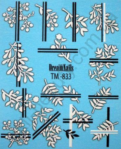 Слайдер-дизайн «Цветы» TM - 833 Dream Nails (водные наклейки)