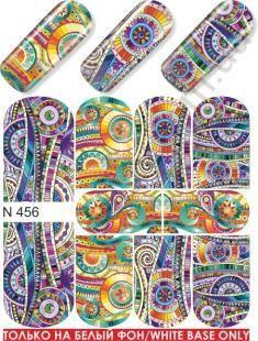 Слайдер-дизайн  N456  (водные наклейки)