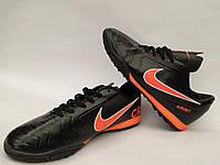 Сороконожки подростковые в стиле Nike CR7 черно-оранжевые
