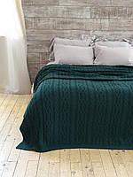 Плед - покрывало вязаное 220x240 BETIRES DOLCE GREEN (50% хлопок, 50% акрил)