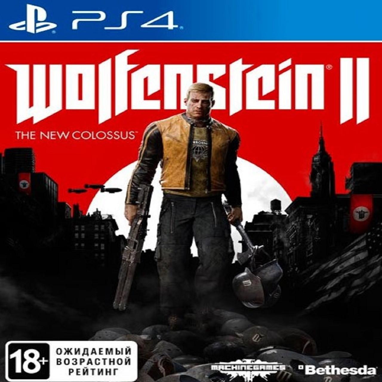 Wolfenstein II The New Colossus (англійська версія) PS4