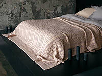 Плед - покрывало вязаное 220x240 BETIRES DOLCE POWDER (50% хлопок, 50% акрил) розовое