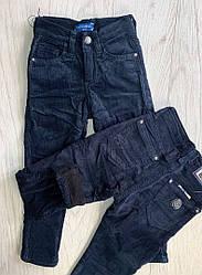 Штаны вельвет  на флисе  для мальчиков   цвет темно синие  146-164 см