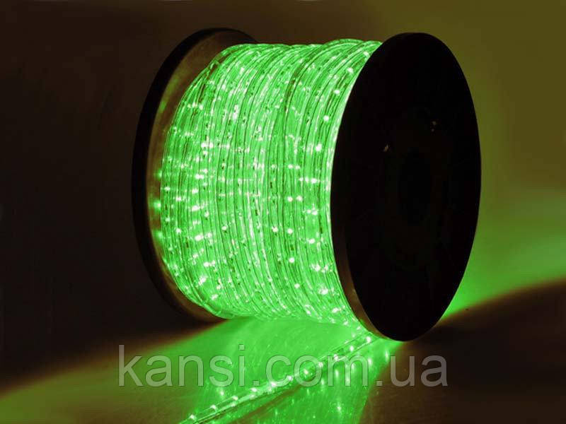 Светодиодная LED лента 5050 Green 100m, дюралайт 100 метров