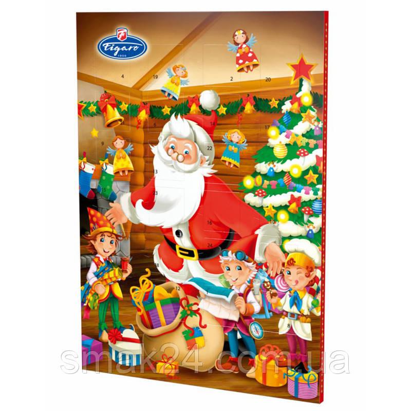 Шоколадный АДВЕНТ календарь Figaro Чехия 50г