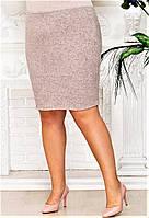 Классическая юбка прямого кроя Ангора р. 50-60