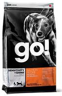Сухой корм GO! Sensitivity + Shine Salmon Dog Recipe 11,3 кг с лососем и овсянкой для щенков, взрослых собак