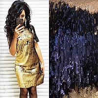 Нарядное короткое платье двухсторонняя пайетка хамелеон, фото 1