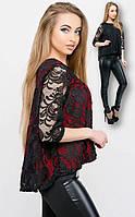 Женская гипюровая блуза свободного кроя, фото 1