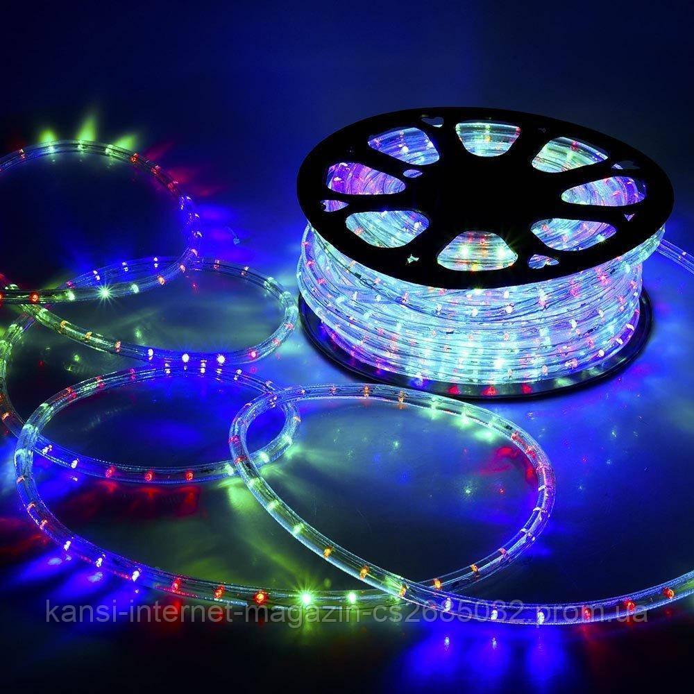 Світлодіодна стрічка LED 5050 RGB 220V, дюралайт різнобарвний 100 метрів