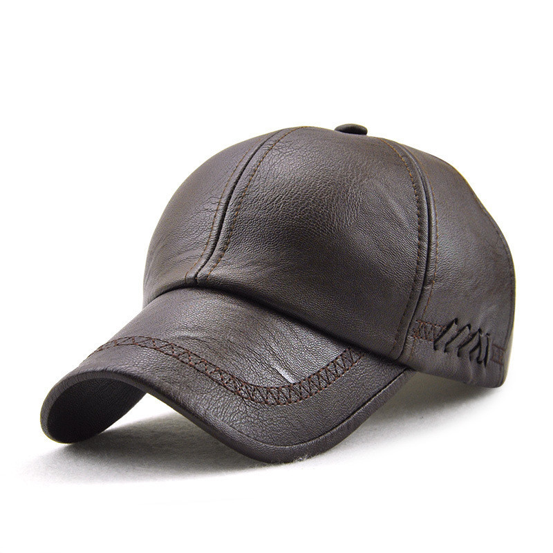 JAMONT кепка мужская зимняя кожа
