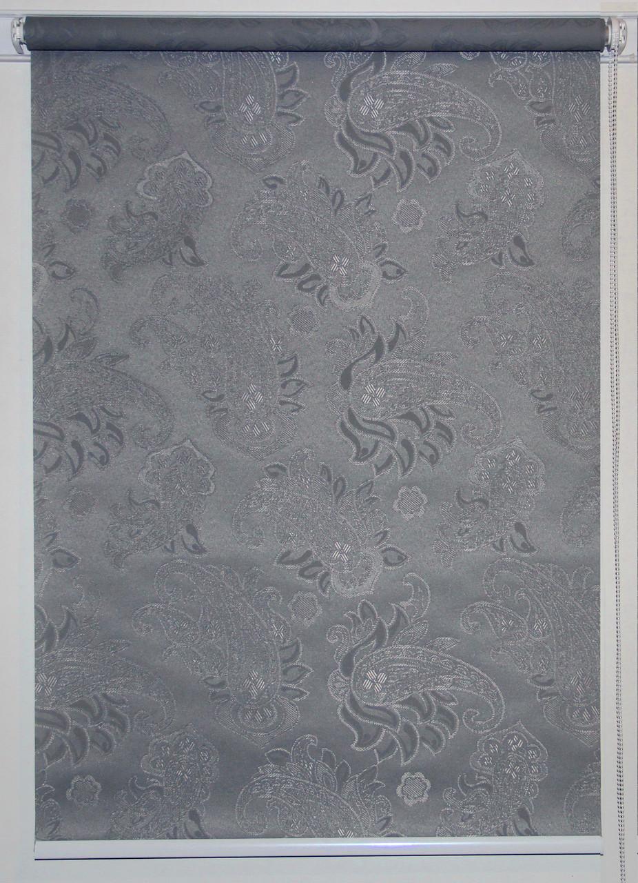 Рулонная штора 1100*1500 Арабеска 2082 Серый