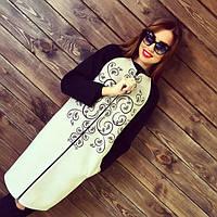 Женское модное удлиненное кашемировое пальто (3 цвета) (размеры 42, 44, 46, 48, 50), фото 1