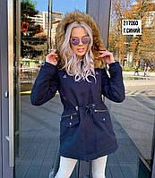 Куртка-парка женская с мехом 2019