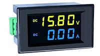 Вольтметр-амперметр D85-3051AG DC 0-600V/0-100A з шунтом, фото 1