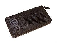 Кошелек-клатч Ekzotic Leather из натуральной кожи крокодила Коричневый   (cw 28), фото 1