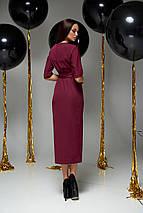 Женское коктейльное платье-миди с поясом (Селеста jd), фото 3