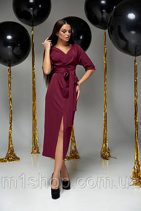 Женское коктейльное платье-миди с поясом (Селеста jd), фото 2