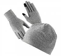 Комплект, шапка и перчатки, Asics Running Pack 3013A035-020, фото 1