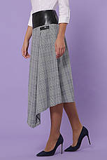Женская клетчатая юбка серая, в расцветках, р.S,M,L,XL, фото 2