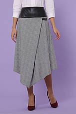 Женская клетчатая юбка серая, в расцветках, р.S,M,L,XL, фото 3