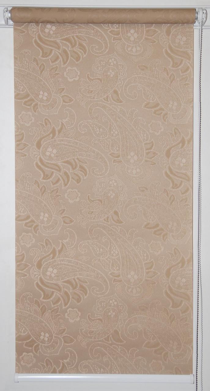 Готовые рулонные шторы 300*1500 Ткань Арабеска 1839 Какао