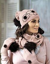 Красивая теплая шапка с помпоном от Kamea - Agata.