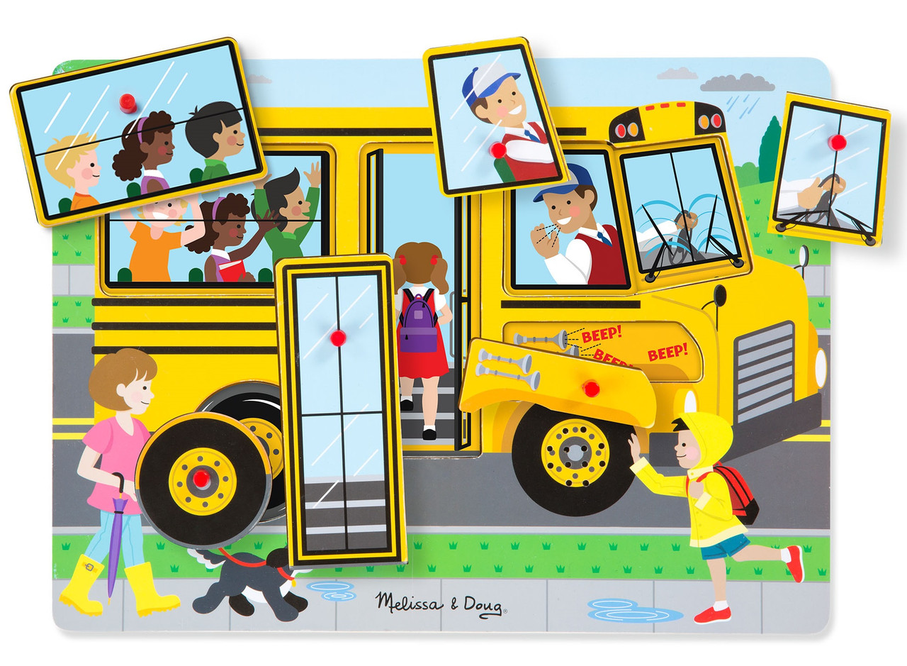 Звуковий пазл Шкільний автобус Melіssa & Doug (MD739)