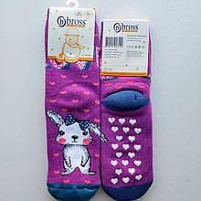Детские теплые носки bross размер 28-30 антискользящие 5-7 лет сиреневые