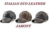 JAMONT кепка мужская зимняя кожа, фото 2