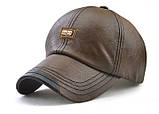 JAMONT кепка мужская зимняя кожа, фото 3
