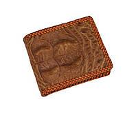 Гаманець зі шкіри крокодила з опліткою Коричневий (cw17_1), фото 1