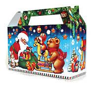 Новогодний сладкий подарок в картонной упаковке №5 Б-300г.