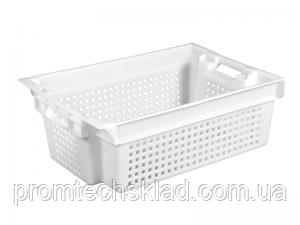 Пластиковый ящик 600х400х200 белый перфорированный