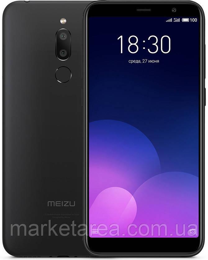 Смартфон с большим дисплеем на 2 сим карты Meizu M6T M811H 2/16Gb black (GSM + CDMA) Global Version
