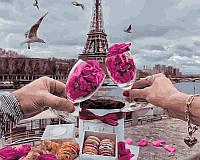 Картина по Номерам 40x50 см. Романтика Парижа Rainbow Art