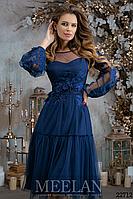 Роскошное миди платье Meelan на выход (2 цвета, р.42-46)