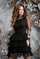 Стильное выходное платье Meelan с пышной юбкой (3 цвета, р.42-46)