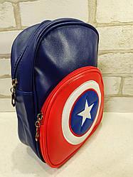Качественный рюкзачок из Эко-кожи для мальчика Capitan America Капитан Америка