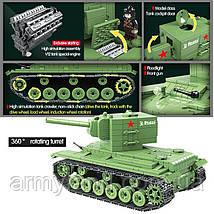 Танк КВ-2, военный конструктор, аналог Лего, фото 2