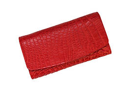 Гаманець зі шкіри крокодила Ekzotic Leather Червоний (cw 95_3)