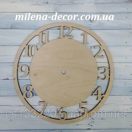 Заготовка для годинника з цифрами 25см (фанера 4 мм)