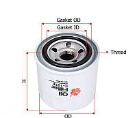 Масляный фильтр Sakura C1016